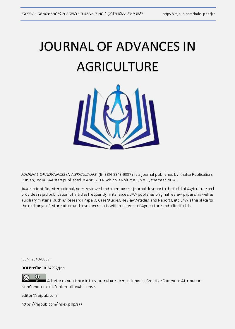 JOURNAL OF ADVANCES IN AGRICULTURE