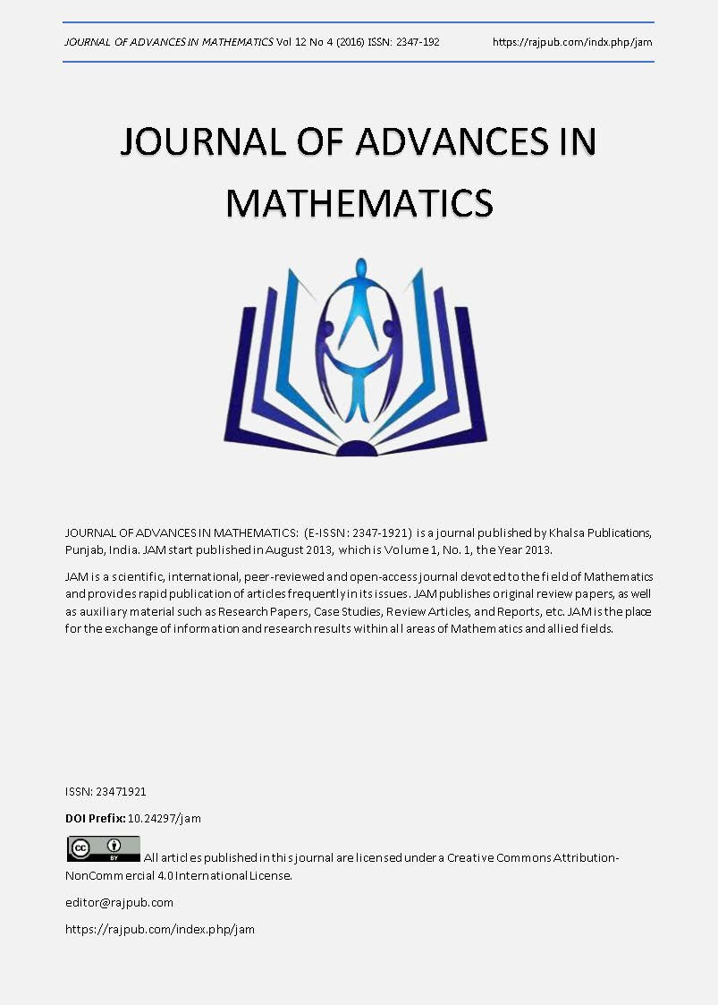 JOURNAL OF ADVANCES IN MATHEMATICS