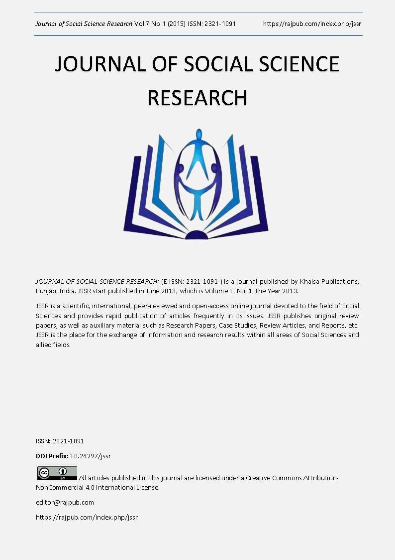 JOURNAL OF SOCIAL SCIENCE RESEARCH