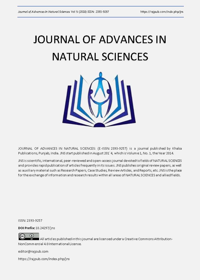 View Vol. 5 (2018): ADVANCES IN NATURAL SCIENCES